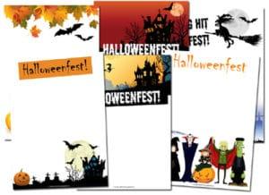 inbjudningskort till halloweenfest