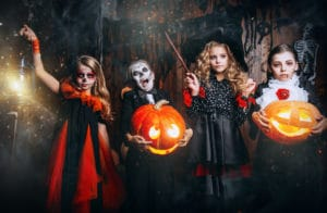 halloweenfest barn lekar