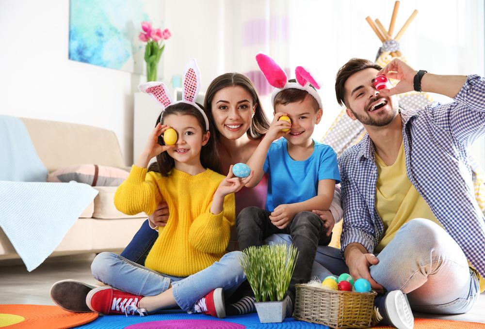 påsklekar familj